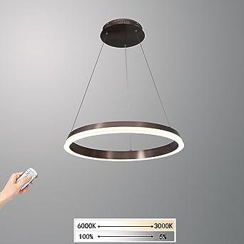 Modern Kreative Ring Design Leuchter Pendelleuchte LED Dimmbar  Fernbedienung Hängelampe Kronleuchter Esstisch Esszimmerlampe Lampe Innen  Decke
