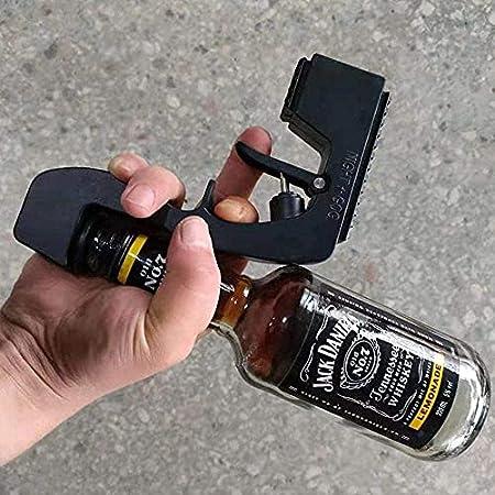 YGCBL Champagne Pistola pulverizador Vino Tope de Vino Champagne dispensador de Vino Fuente Botella eyector de Cerveza champán sacacorchos burbujeante Blaster-Rojo (Color : Black)