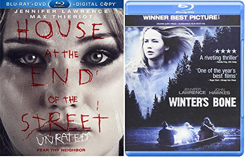 Winter's Bone + House at the End of the Street Blu Ray 2 Pack Drama Thriller Horror Movie Jennifer Lawrence Set