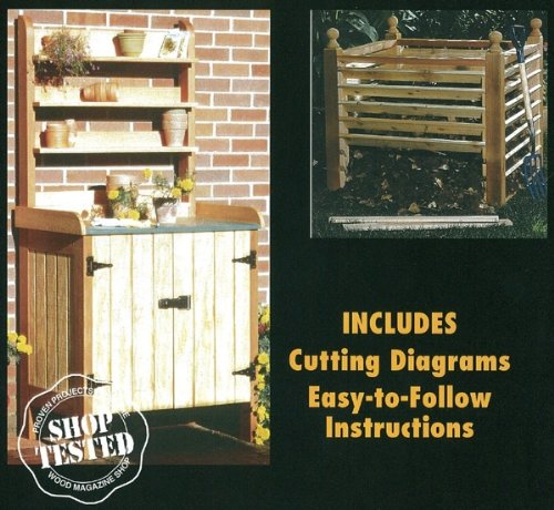 Potting Bench and Compost Bin - A Woodworking Pattern and Instructions Pkg to Build Your Own Potting Bench Plan