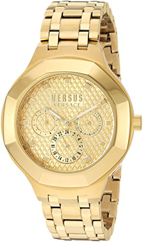 Versus by Versace Women's 'LAGUNA CITY' Quartz Tone and Gold Plated Casual Watch(Model: - Versace Rose