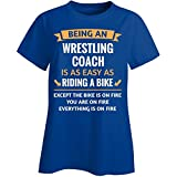 This Gift Rocks ! Being A Wrestling Coach Is Easy - Ladies T-shirt Ladies 2XL Royal