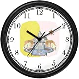 St. Peter's Basilica - Vatican City - Christian Theme Wall Clock by WatchBuddy Timepieces (Black Frame)