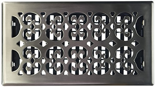 Decor Grates SPH612-NKL Scroll Floor Register, 6-Inch by 12-Inch, Nickel