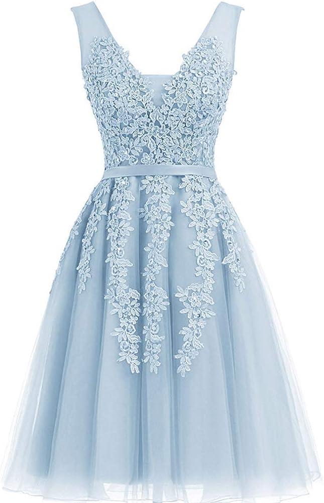 Annadress Women's Net Bridesmaid Dresss Evening Cocktail Gowns