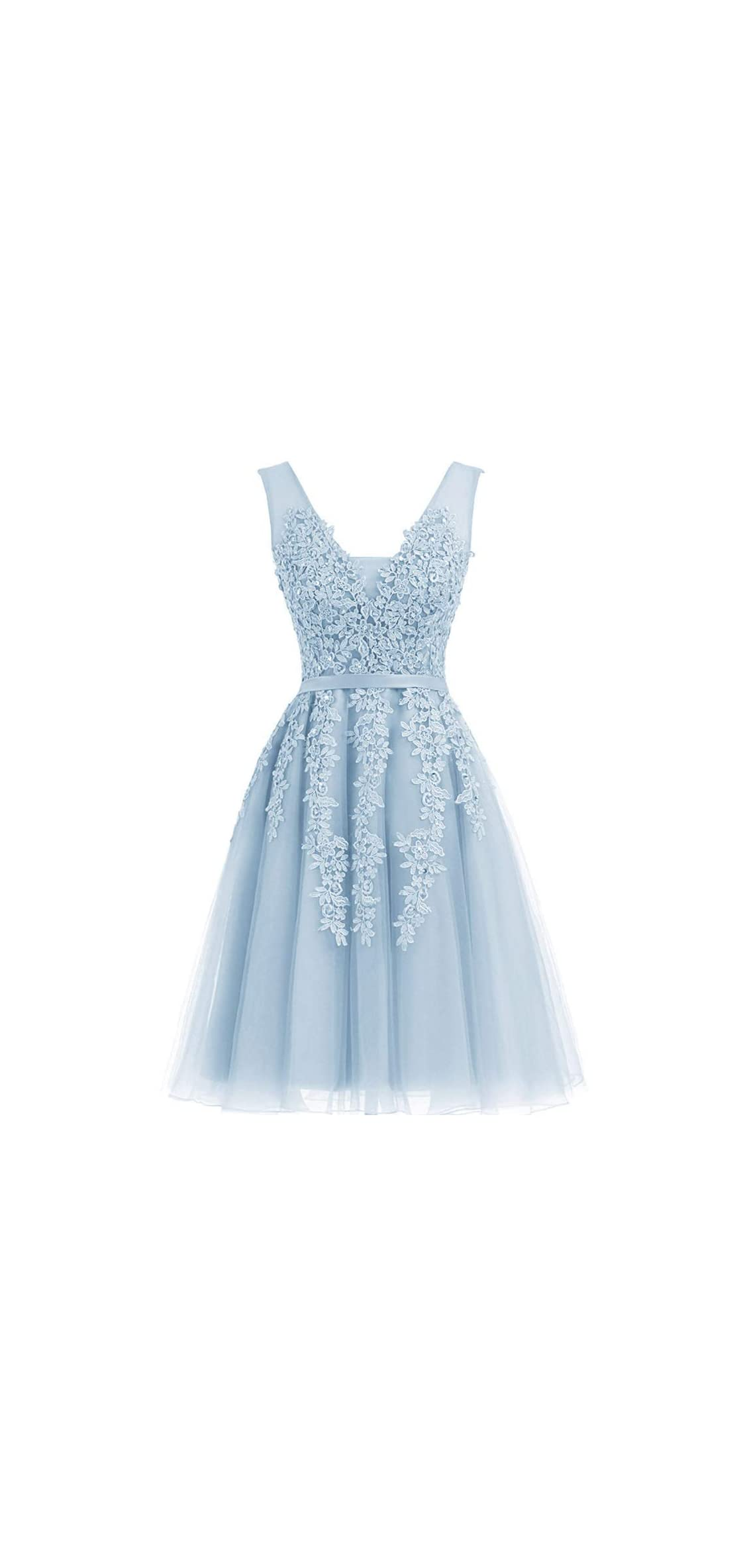 Women's Dress Short Net Bridesmaid Dress S Evening