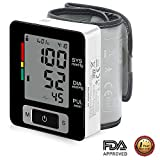 Blood Pressure Monitor, AlphaMed Wrist BP Monitor Blood Pressure Cuff with Memory Storage Pulse Diastolic Systolic Measurement and Large Screen Displaying
