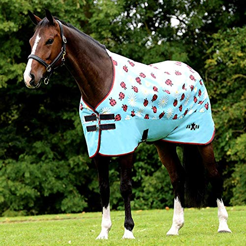Saxon 600D Standard Neck Lite Turnout Sheet Daisy/Ladybug Print 84 (Saxon 600d Turnout Sheet)