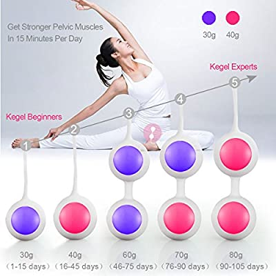 Kegel Exercise Weight Balls for Women Bladder Control & Pelvic Floor Exercises, PALOQUETH Silicone Ben Wa Balls Training Set for Beginners & Advanced, Perfect Gift for Close Friends