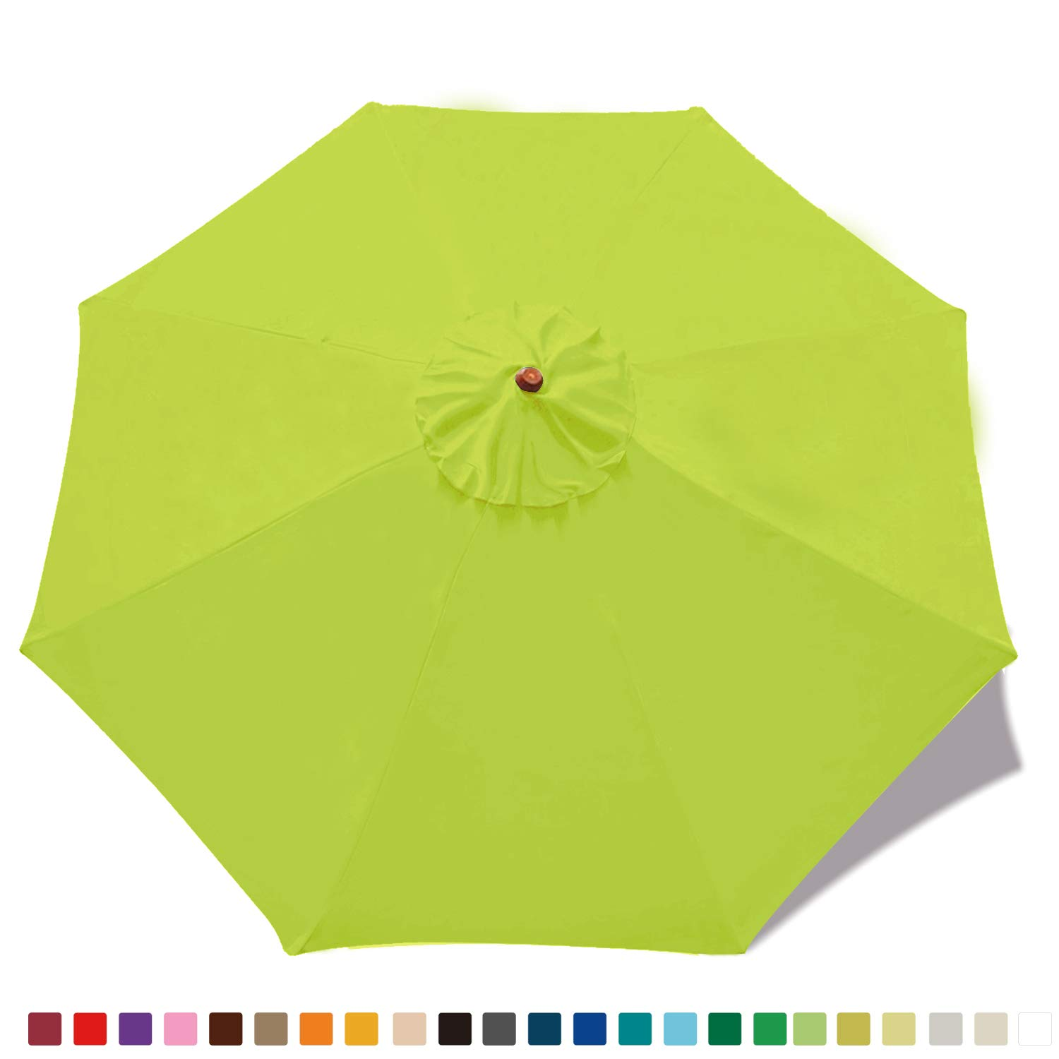 (23+ colors) 9ft Market Umbrella Replacement Canopy 8 Ribs (Lemon green)