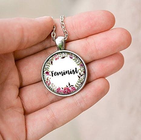 Feministas colgante collar, feminismo, la liberación de la mujer de regalo de joyas, collar: Amazon.es: Juguetes y juegos
