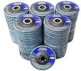 100 Pack Flap Discs 40 Grit 4.5'' x 7/8'' Sanding Wheels