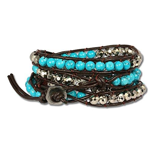 Bracelet turquoise veritable homme