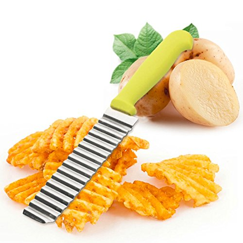 Freeze Blade Costume (M$M shop New Kitchen Cutter, Small Potato Cutter, Stainless Steel Potato Fryer Cutter.)