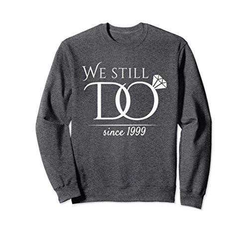 Unisex 19th Wedding Anniversary Sweatshirt For Married In 1999 W Large Dark Heather