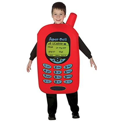 kids cell phone halloween costume size