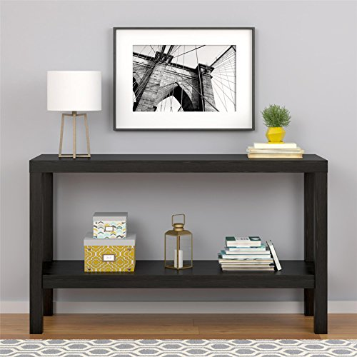Sturdy Sleek Design Entryway Black Console Table (Bombay Living Room Ottoman)