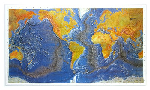 Ocean Floor Raised Relief Map (Raised Relief Map, Ocean Floor)
