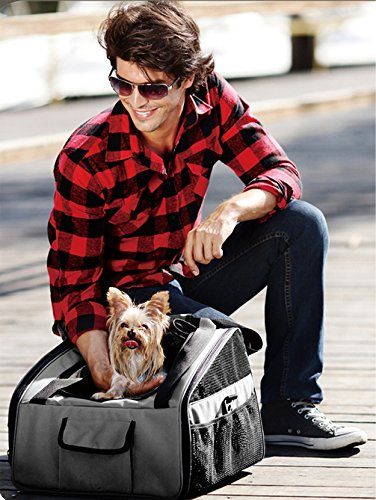 Iconic Pet FurryGo Luxury Booster Seat, Small, Dark Grey by Iconic Pet (Image #7)