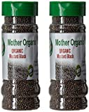 Mother Organic Mustard Black Bottle, 5.3 Ounce (Pack Of 2)