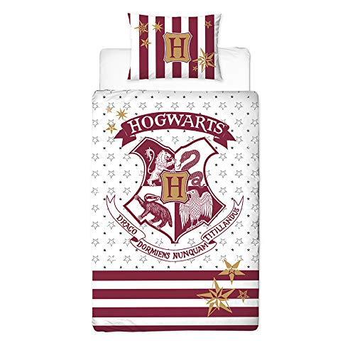 AYMAX S.P.R.L Harry Potter Parure de lit Enfant Housse de Couette 135x200 cm Taie doreiller 80x80 cm