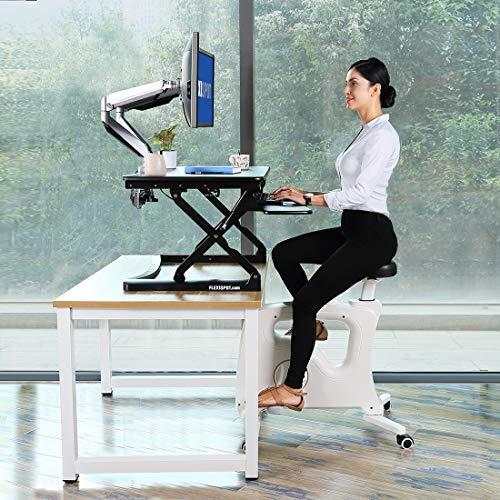 Deskcise Pro FLEXISPOT Home Office Standing Desk Exercise Bike Height Adjustable Cycle