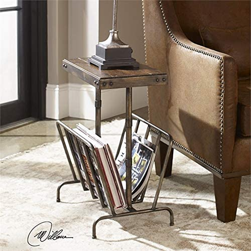 Uttermost Sonora Magazine Rack End Table