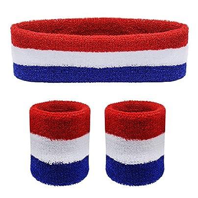 SelfTek Headband Wristbands Set Pieces Sports Headband and Wrist Sweatbands Absorbing Head Band Estimated Price £3.59 -
