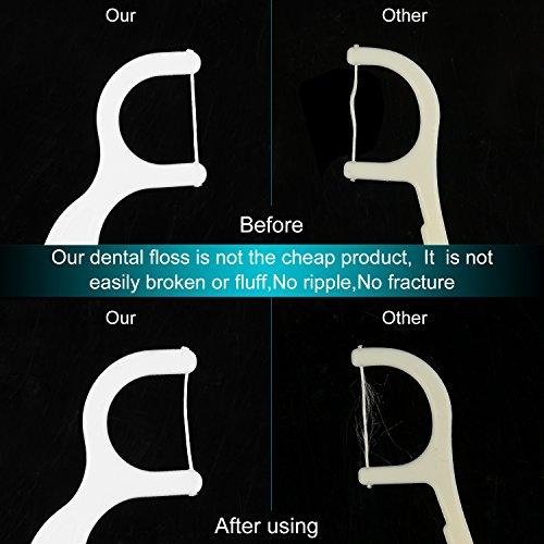 Dental Floss,DARIDO Dental Floss Picks 4 Packs with Travel Handy Case, 200 Counts Dental Floss Picks by DARIDO (Image #2)