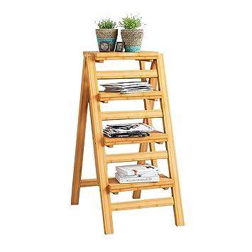 Estante plegable de la escalera | Taburete de madera para ...