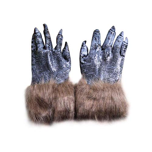 Party Diy Decorations - Halloween Diy Decoration Horror Monster Wolf Mask Head Cover Claws Gloves Werewolves Cosplay Props - Fox Monster Doggie Supers Undercover Dracula Villain Plastics Ghostbus