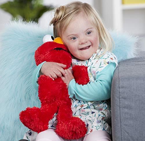 "51An6sJYh L - Sesame Street Love to Hug Elmo Talking, Singing, Hugging 14"" Plush Toy for Toddlers, Kids 18 Months & Up"