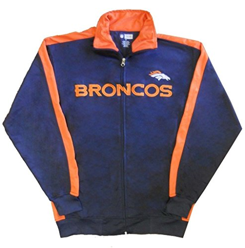 Denver Broncos NFL End Zone Full Zip Mens Track Jacket Big & Tall Sizes (LT)