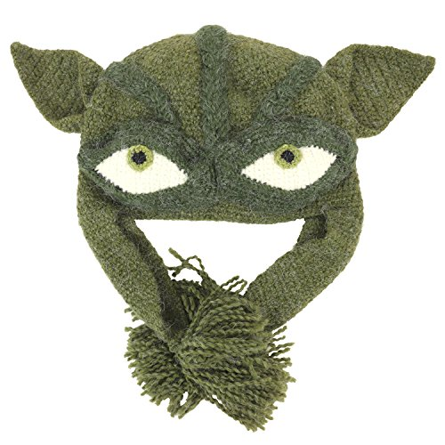 Trendy Apparel Shop Funny Star Wars Yoda Peruvian 100% Handmade Earflap Beanie - YODA