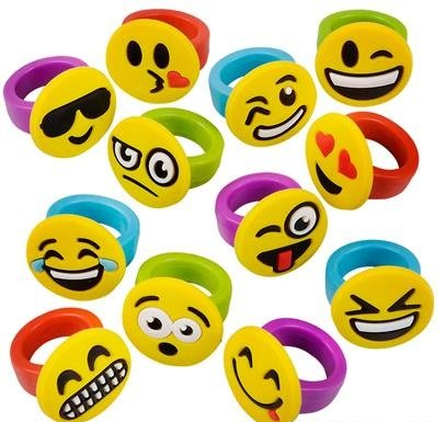 Inch Emoticon Rubber Rings Emojis product image