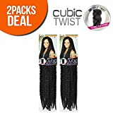 ISIS Synthetic Hair Crochet Braids A Fri-Naptural Cubic Twist (2-Pack, OM30)