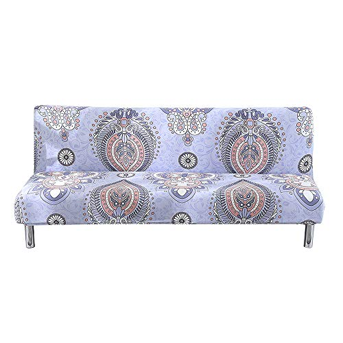 (Jian Ya Na Sofa Slipcover Stretch Soft Sofa Bed Cover Household Folding Couch Futon Cover for Armless 180-210cm Sofa Bed (E))