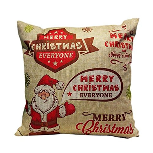 Nation Pillow Case Clearance ♥ Christmas Sofa Bed Home Decoration Festival Cushion Cover (Multicolor) (Christmas Decorations Clearance Online)
