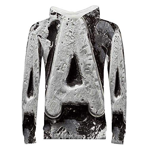 Letter A 3D Printed Child Hoodie,Vintage Featured A