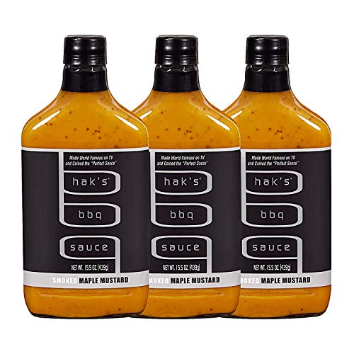 - Haks BBQ Sauce, Smoked Maple Mustard, 15.5 Oz