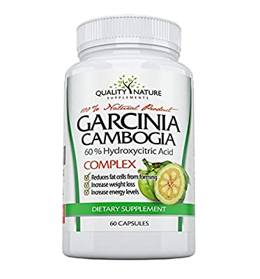 Quality Nature Garcinia Cambogia Extract Dietary Supplement with 60% HCA, 60 Capsules