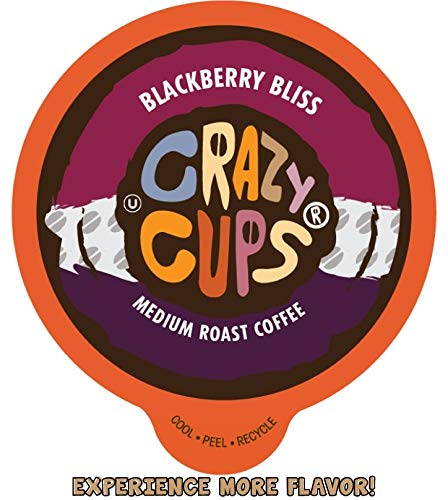 Crazy Cups Flavored Coffee for Keurig KCup Machines Blackberry Bliss Hot or Iced Drinks 22 Single Serve Recyclable Pods