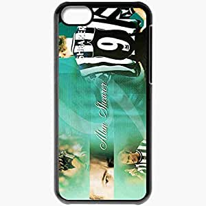 Personalized iPhone 5C Cell phone Case/Cover Skin Alan Shearer Football Black