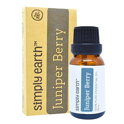 Earth Juniper (Juniper Berry Essential Oil by Simply Earth - 15 ml, 100% Pure Therapeutic Grade)