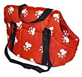 Paw Print Pet Carrier (Red)