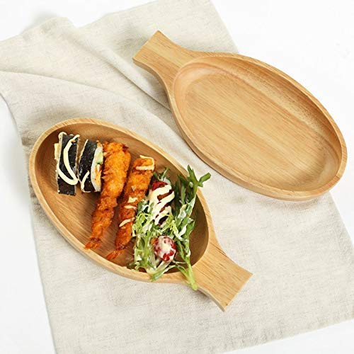 Fish Shaped Wooden Plates Wooden Sushi Dishes Serving Tray Plate Fish Shape Food Dishes Japanese Style Fish Plates Wood Pan for Kitchen Dinner Bar Tools