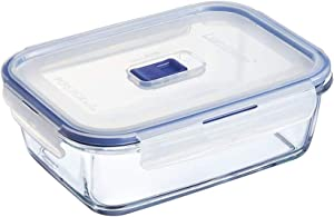 Luminarc Pure Box Active Glass Food Storage Container with Sliding Vent Lid (Rect. 3.4 Cups / 800 ML)