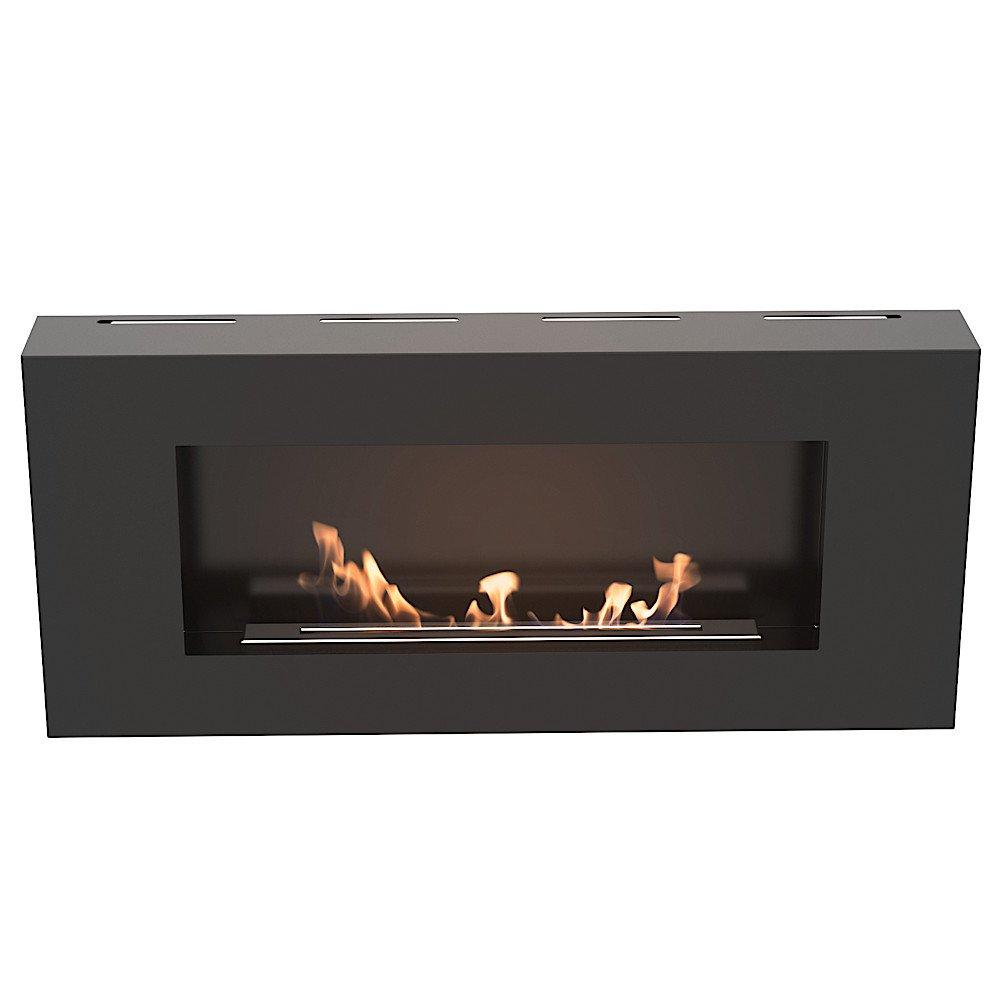 Ethanolkamin Modena Wandkamin Wandkamin Wandkamin mit sicherem Brennsystem Farbe  Schwarz 1bc08a