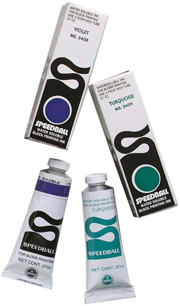 Speedball SPD-3408 Water Soluble Block Printing Ink 1.3 oz Violet