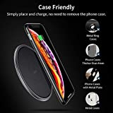 ESR Wireless Charger, [7.5W/10W] Metal Frame Ultra-Slim Qi Charging Pad, Fast Charging for iPhone Xs Max/XR/Xs/X/8Plus, Samsung Galaxy S10/S10+/S10e/S9/Note 9, Charging for Google Pixel 3, Black